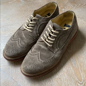 1901 | Suede Oxford Wingtip Dress Casual Shoes 9M